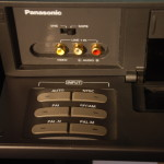 Panasonic AG-W3 World VCR-Input Standard selection panel